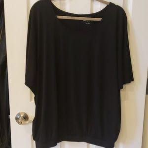 "Black Short Sleeve Blouse ""Like New"""